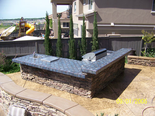 Outdoor Tile Kitchen Pleasanton