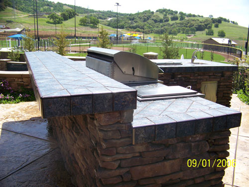 Tile in-lay Outdoor Kitchen Pleasanton
