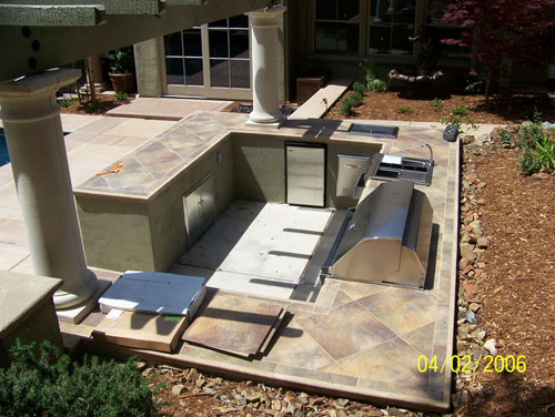 Concrete Countertop Outdoor Kitchen Livermore