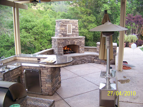 Outdoor Kitchen With Outdoor Fireplace Design. Outdoor Kitchen Project    Berkeley Part 82