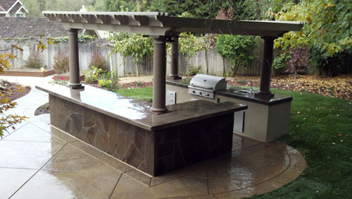 Custom outdoor kitchens berkeley ca from simple to luxury for Simple outdoor kitchen ideas